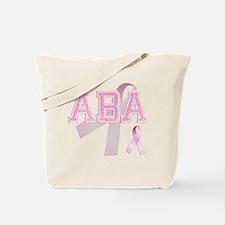 ABA initials, Pink Ribbon, Tote Bag