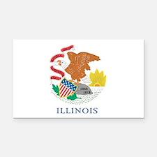 Illinois State Flag Rectangle Car Magnet