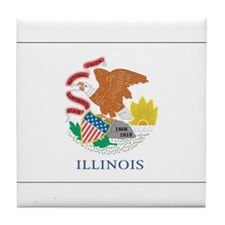 Illinois State Flag Tile Coaster