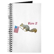 Squirrel Waving US Flag Journal