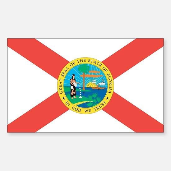 Florida State Flag Sticker (Rectangle)