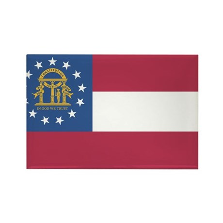Georgia State Flag Rectangle Magnet