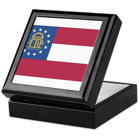 Georgia State Flag Keepsake Box