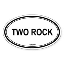 Two Rock oval Oval Decal