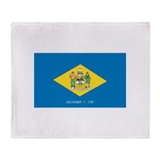 Delaware State Flag Throw Blanket