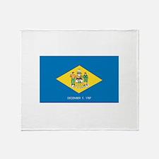Delaware State Flag Throw Blanket