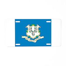 Connecticut State Flag Aluminum License Plate
