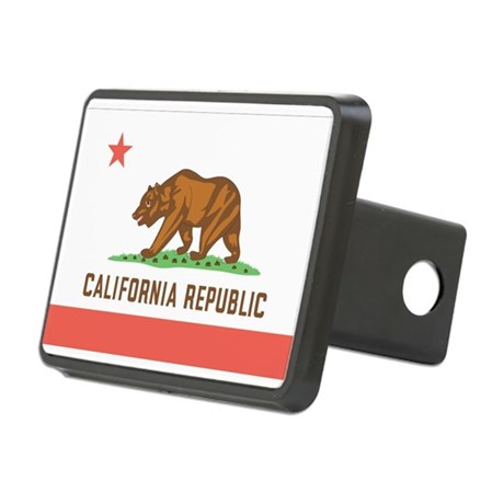 California State Flag Rectangular Hitch Cover