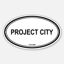 Project City oval Oval Decal