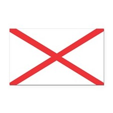 Alabama State Flag Rectangle Car Magnet