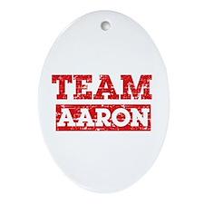 Team Aaron Ornament (Oval)