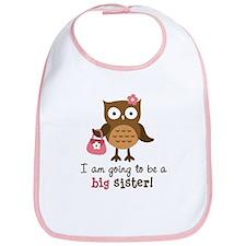 Big Sister to be - Mod Owl Bib