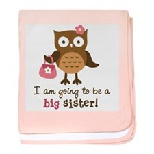 Big Sister to be - Mod Owl baby blanket
