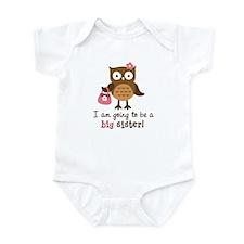 Big Sister to be - Mod Owl Infant Bodysuit