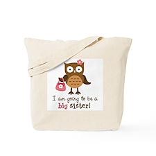 Big Sister to be - Mod Owl Tote Bag