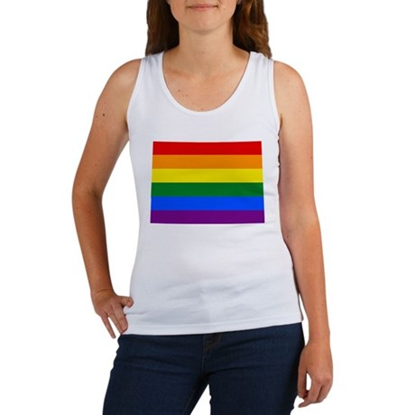 Rainbow Pride Flag Colorado Map Women's Tank Top