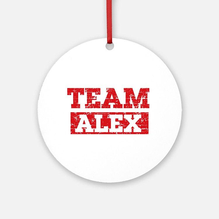 Team Alex Ornament (Round)