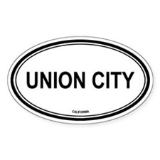 Union City oval Oval Decal