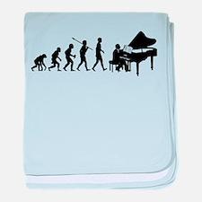 Pianist baby blanket