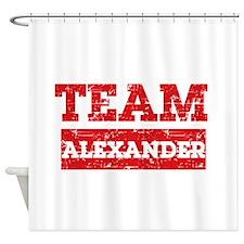 Team Alexander Shower Curtain