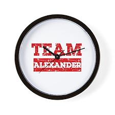 Team Alexander Wall Clock