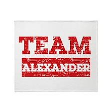 Team Alexander Throw Blanket