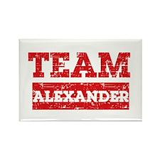 Team Alexander Rectangle Magnet