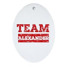 Team Alexander Ornament (Oval)