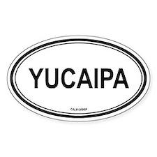 Yucaipa oval Oval Decal