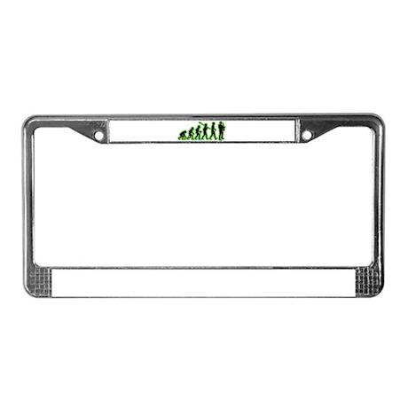 Saxophone Player License Plate Frame