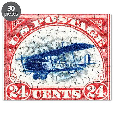 1918 US Stamp Curtiss Biplane Puzzle