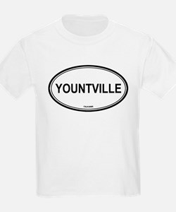 Yountville oval Kids T-Shirt