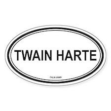 Twain Harte oval Oval Decal