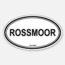 Rossmoor oval Oval Decal
