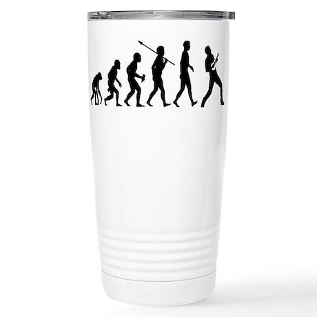 Ukulele Player Stainless Steel Travel Mug