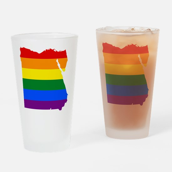 Rainbow Pride Flag Egypt Map Drinking Glass