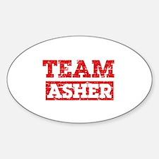 Team Asher Sticker (Oval)