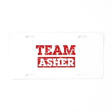 Team Asher Aluminum License Plate