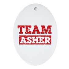 Team Asher Ornament (Oval)