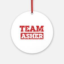 Team Asher Ornament (Round)
