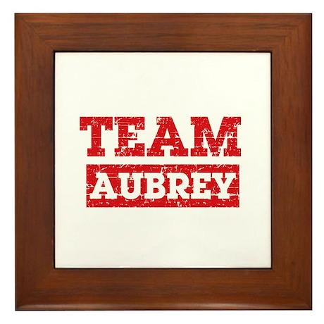 Team Aubrey Framed Tile