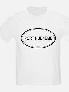 Port Hueneme oval Kids T-Shirt