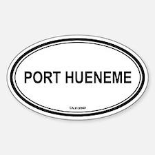 Port Hueneme oval Oval Decal