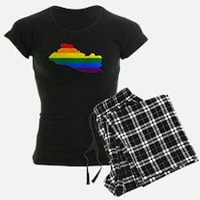 Rainbow Pride Flag El Salvador Map Pajamas