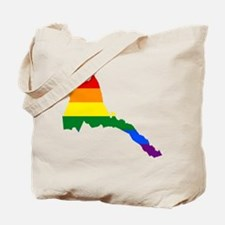 Rainbow Pride Flag Eritrea Map Tote Bag