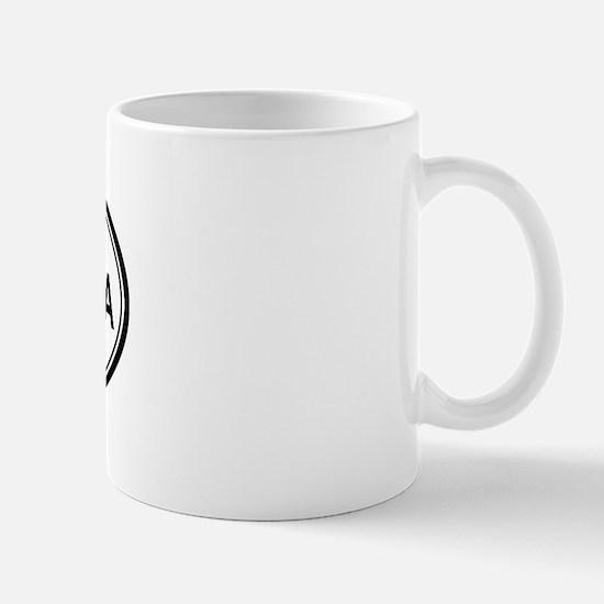 Yorba Linda oval Mug