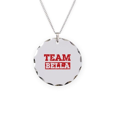 Team Bella Necklace Circle Charm