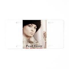 Pearl Lover Aluminum License Plate