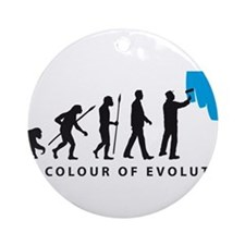 Evolution Painter Ornament (Round)