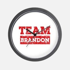 Team Brandon Wall Clock